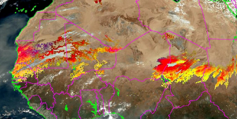 Événement de poussières désertiques (campagne SHADOW-2)